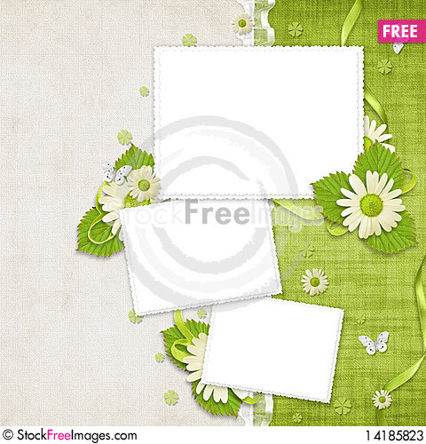 Free Card For The Holiday  With Flowers Stock Photos - 14185823