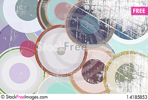 Free Grunge Circles On The Wall Stock Photos - 14185853