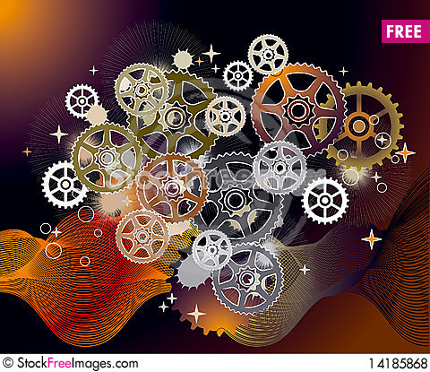 Free Mechanical World_gear_abstract_background Royalty Free Stock Photos - 14185868