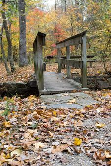 Autumn Bridge Royalty Free Stock Photos