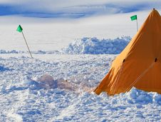 Ice Camp Stock Photography