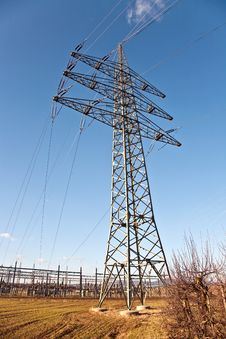 Electricity Tower For Energy In Acre Stock Photography