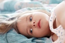 Beautiful Little Girl In The Morning Stock Image