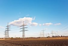 Free Electricity Tower For Energy With Sky Royalty Free Stock Photography - 14181817