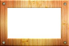Free Illustrated Wood Frame. Stock Photos - 14182913