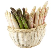 Free Fresh Asparagus In Basket Royalty Free Stock Image - 14182936