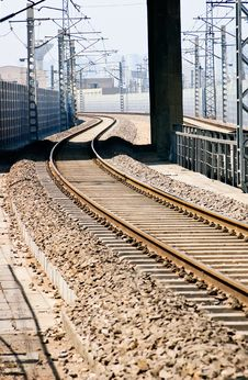 City Railway Stock Photography
