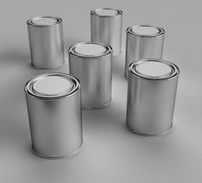 Free Paint Buckets Royalty Free Stock Photography - 14183317