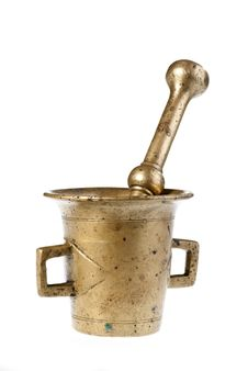 Old Mortar And Pestle Stock Images
