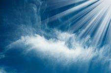 Wonderful Sunbeams And Sky With Clouds. Royalty Free Stock Photography