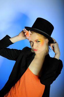 Free Elegant Fashion Woman With Creative Eye Make-up Royalty Free Stock Photo - 14184355