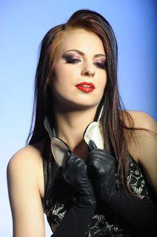 Free Sexy Fashion Woman With Elegant Eye Makeup Stock Photos - 14184453