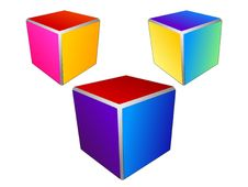 Free Vector Colored Abstract Cubes Stock Photography - 14186102