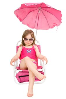 Free Little Girl On The Beach Royalty Free Stock Images - 14186709