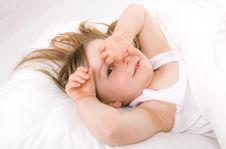 Free Little Girl Sleeping Stock Photography - 14186732