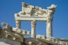 Ruins Of Pergamo, Turkey Royalty Free Stock Photo