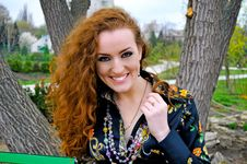 Free Red Head Girl Smiling Royalty Free Stock Photography - 14186907