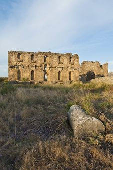 Aspendos Archaeological Site, Turkey Stock Photo