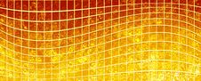 Free Banner Of The Iridescent  Golden  Squares Royalty Free Stock Photos - 14187328