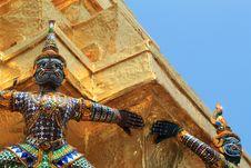 Free Demons, Wat Phra Kaeo, Bangkok, Thailand Royalty Free Stock Photography - 14187387