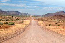 Namibian Road Royalty Free Stock Photography