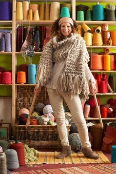 Free Woman Wearing Knitted Scarf Standing Royalty Free Stock Photography - 14188537