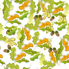 Free Autumn Seamless Wallpaper Royalty Free Stock Photo - 14188775