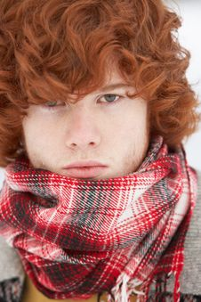 Free Teenage Boy Wearing Winter Clothes Stock Photo - 14188880
