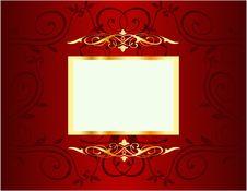 Free Golden Floral Frame Royalty Free Stock Images - 14189149