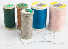 Free Sewing Reels Stock Images - 14189554
