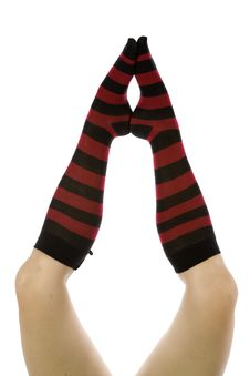 Free Red And Black Socks Feet Together Royalty Free Stock Images - 14189559