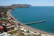 Free View From Height On Quay. Sudak. Royalty Free Stock Images - 14189569