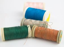 Free Sewing Reels Stock Image - 14189571