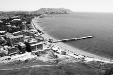 Free View From Height On Quay. Sudak. Stock Images - 14189584