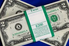 Free Piles Of United States Two Dollar Bills Stock Images - 14189864
