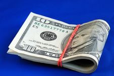 Free A Strap Of Ten Dollar Bills Royalty Free Stock Photos - 14189898