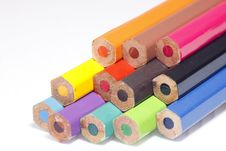 Free Back Of Pastel Pencils In 12 Colors Stock Image - 14189941