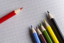 Free Colorful Pencils Stock Photography - 14189962