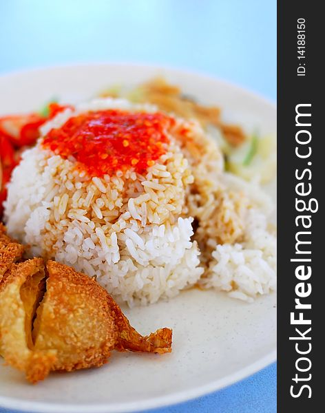 Southeast Asian style chicken rice