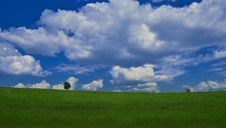 Free Beautiful Nature.Art Photography.Fantasy Design.Creative Background.Amazing Colorful Landscape.Blue Sky, Clouds.Panorama, Tree. Stock Photos - 141822223