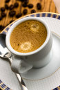 Free Cup Of Espresso With Coffee Beans Stock Photos - 14191173