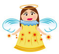 Free Angel With Stars Stock Images - 14194614