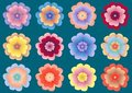 Free Multicolored Flowers Seamless Pattern Stock Images - 14197034