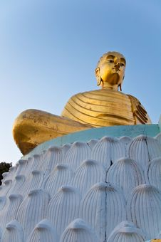 Buddhaimage On Lotus Base Royalty Free Stock Images