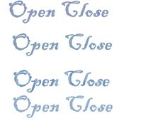 Free Open Close Words Styles Royalty Free Stock Photos - 14190218