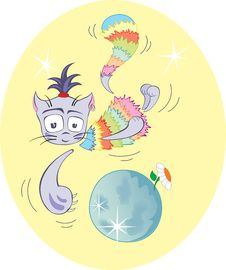 Free Rainbow Cat. Stock Photos - 14190753