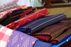 Free Native Thai Fabric Royalty Free Stock Photography - 14191597