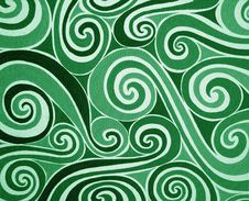 Free Green Spirals Royalty Free Stock Image - 14191826
