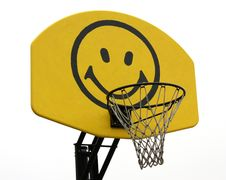 Free Basketball Backboard With Smiley Face Stock Photography - 14192482