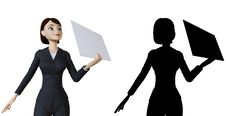 Free Woman And White Panel Royalty Free Stock Image - 14192496